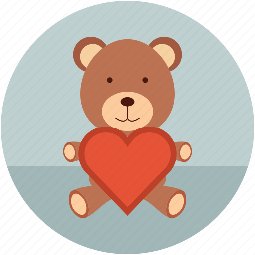 love teddy, teddy, teddy bear, teddy with heart, toy teddy icon