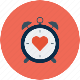 clock with heart, timepiece with heart, timer and heart, timer with heart icon