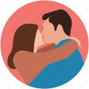 couple hug, couple hug each other, couple in hug, couple in love icon