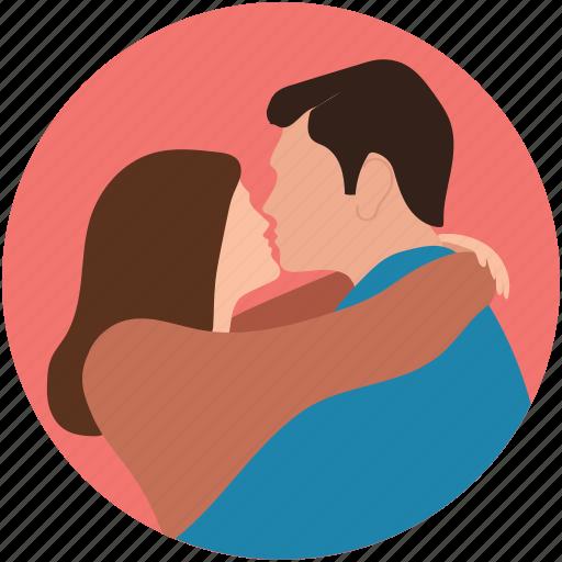 couple hug, couple hug each other, couple in hug, couple in love icon