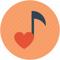 love music, love songs, music sign, musical note, romantic music, romantic music sign, romantic songs icon