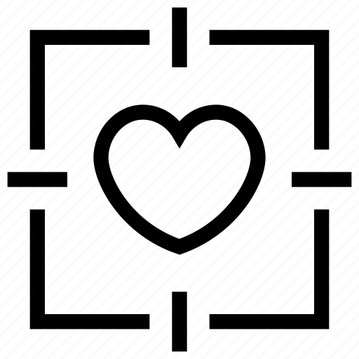 favorite, heart, love, romantic, target icon icon