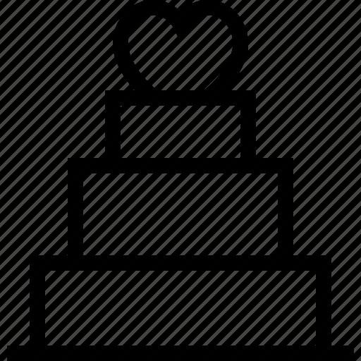 cake, dessert, love cake, romantic cake, valentine cake icon icon