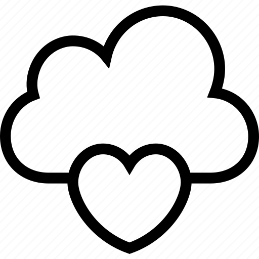 cloud, heart, icloud, online dating, online love icon icon