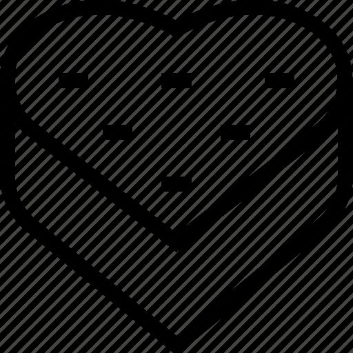 box, gift, heart, love, present, romantic icon icon