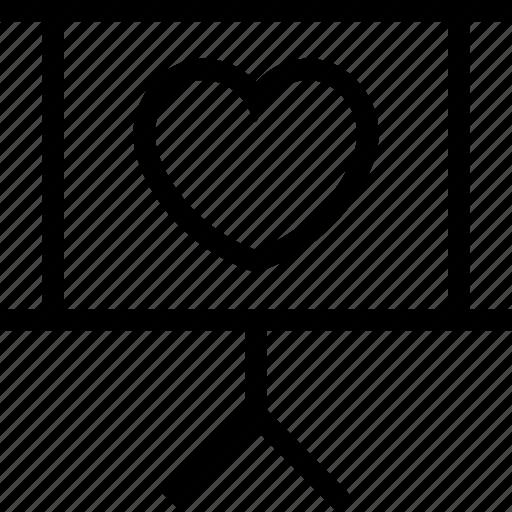 board, easel with heart, romance, romance board icon icon