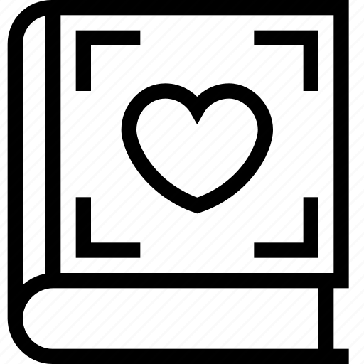 book, book with heart, education, heart, love book icon icon