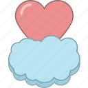 cloud, date, february, heart, love, romantic, valentine icon