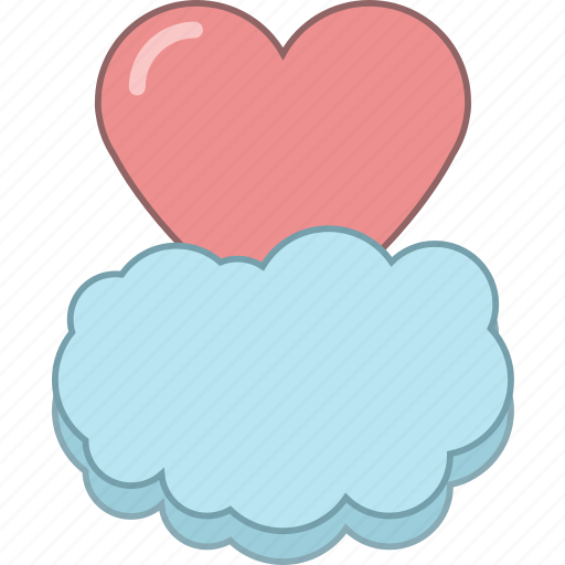 cloud, date, february, heart, love, romantic, valentine icon