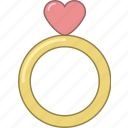 date, february, heart, love, marriage, ring, valentine icon