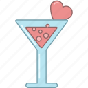 club, cocktail, date, february, glass, love, valentine icon