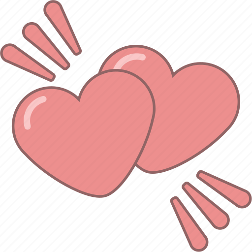 amour, date, february, hearts, love, valentine, wings icon