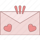 date, envelope, february, love, message, romantic, valentine icon