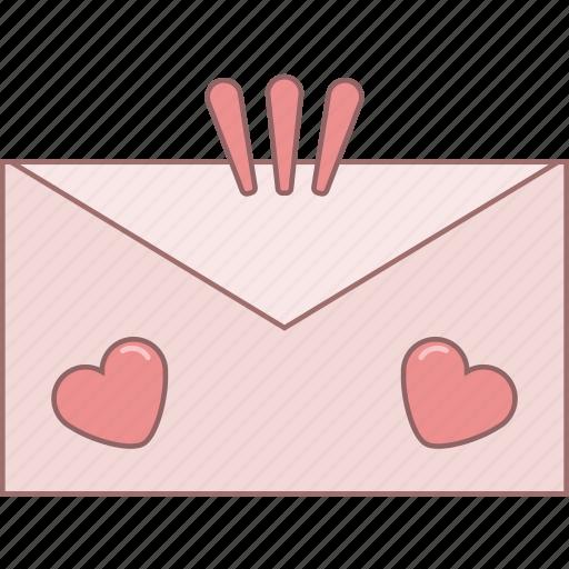 date, envelope, february, love, message, romantic, valentine icon