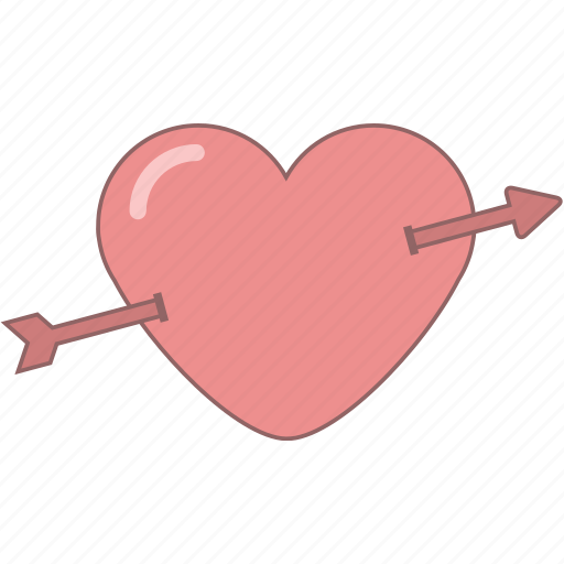 arrow, cupid, date, february, heart, love, valentine icon