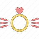 february, heart, love, marriage, ring, valentine, wings