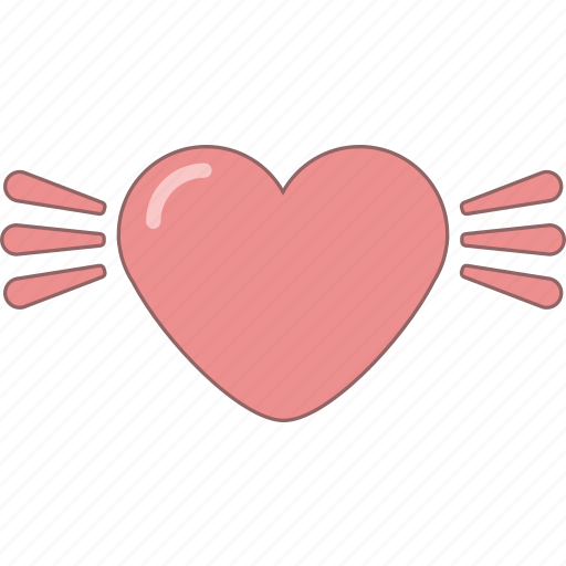amour, date, february, heart, love, valentine, wings icon