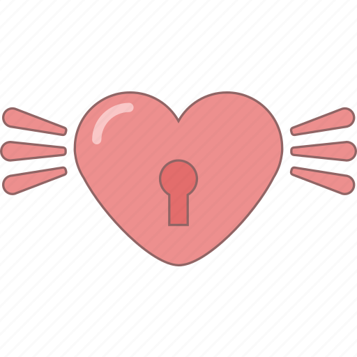amour, date, february, heart, lock, love, valentine icon