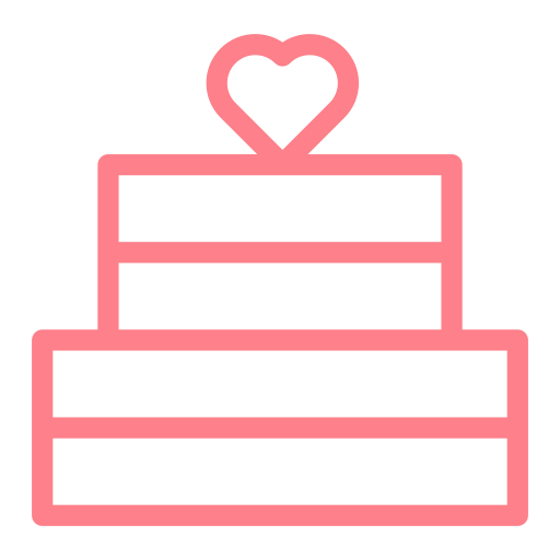 cake, dating, heart, love, valentine, wedding icon