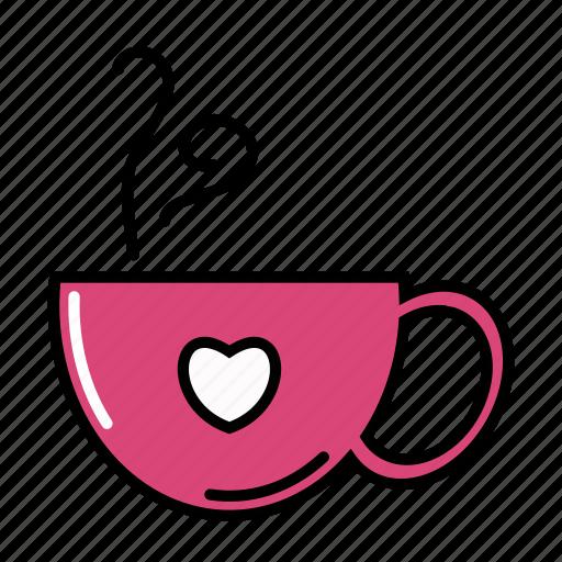 Coffee, cup, hot, love, sip, tea icon