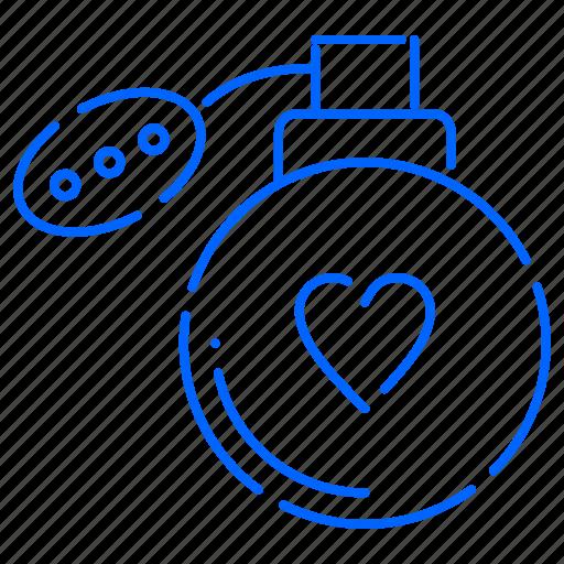 heart, love, perfume, valentine icon