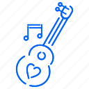 guitar, heart, instruments, music icon
