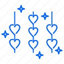 heart, hearts, love, rope, valentine icon