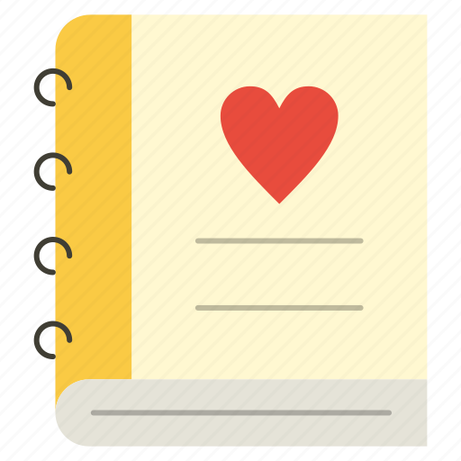 Diary, heart, love icon - Download on Iconfinder