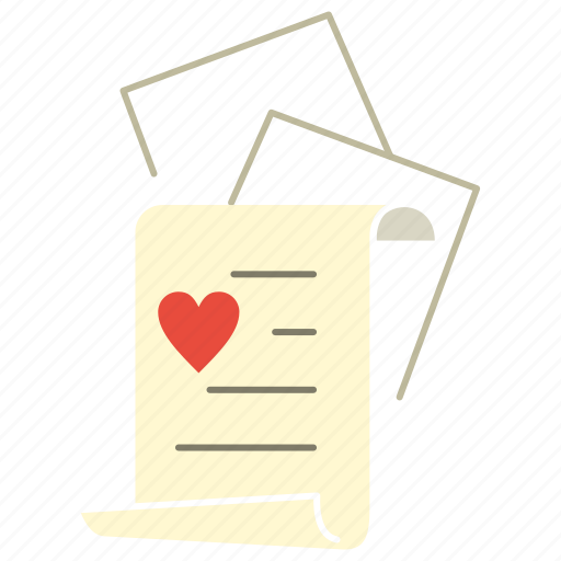 Document, heart, letter, love icon - Download on Iconfinder