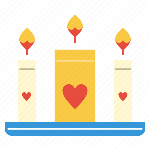 Candle, candles, heart, love icon - Download on Iconfinder
