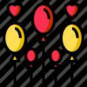 balloon, hearts, love, valentine, romance