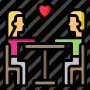 sweetheart, heart, love, valentine, dinner