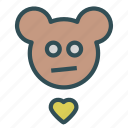 avatar, bear, heart, teddy icon