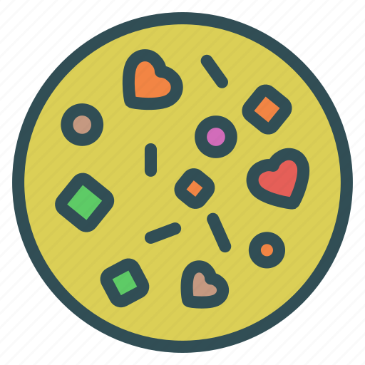 cookie, heart, love, sweet icon