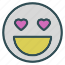 avatar, emoticon, face, heart, love icon