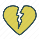 broken, heart, love icon