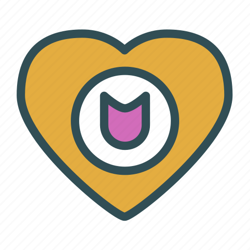 heart, love, protection, secure, shield icon