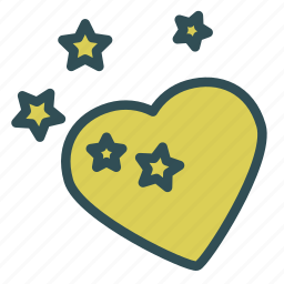heart, love, sky, star icon