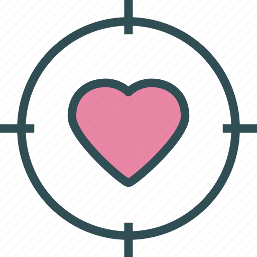 heart, love, target icon