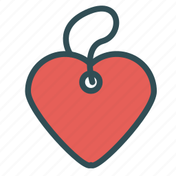 heart, love, necklace, rope icon
