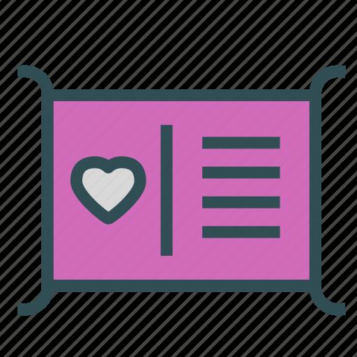 card, heart, love, profile icon