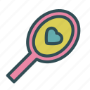 heart, love, mirror, reflection icon