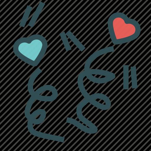 celebration, heart, love, party, valentine icon