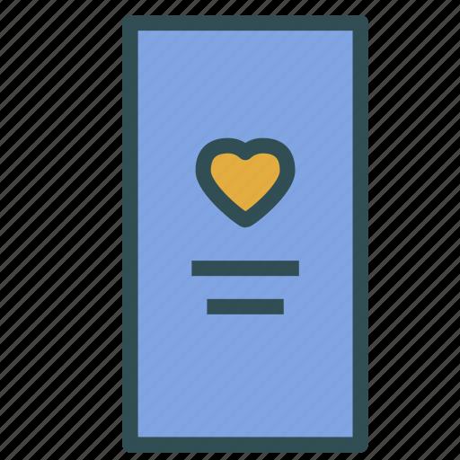 flyer, heart, love, presentation icon
