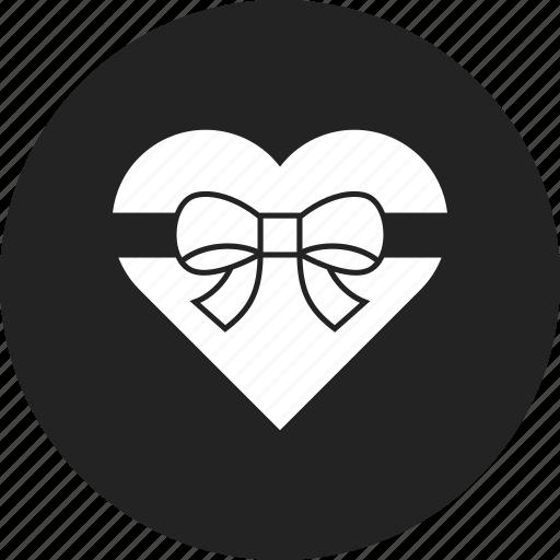 gift, heart, valentine icon