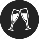 celebration, champagne, glasses icon