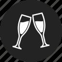 celebration, champagne, glasses, toast icon