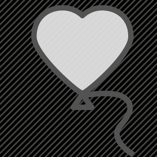 balloon, heart, love, party, valentine icon