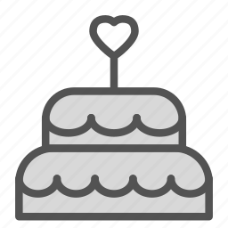 cake, heart, love, sweet, wedding icon