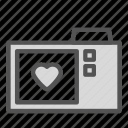 camera, heart, love, photo icon